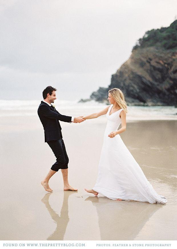 Romantic Beach Wedding Shoot Beach Wedding Photography Beach