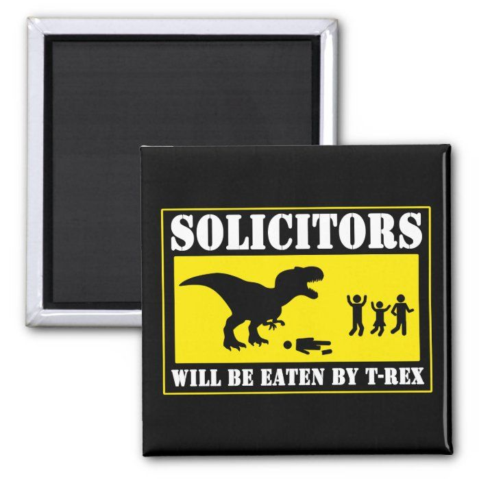 Personalized Funny - Funny No Soliciting 2 Inch Square Magnet