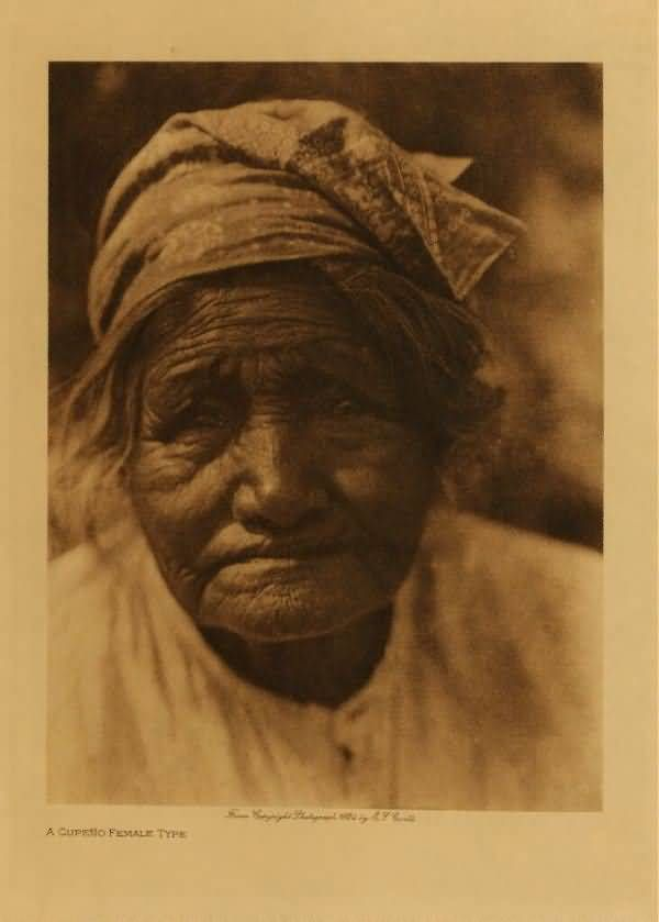 American Indians : A Cupeno Female Type.