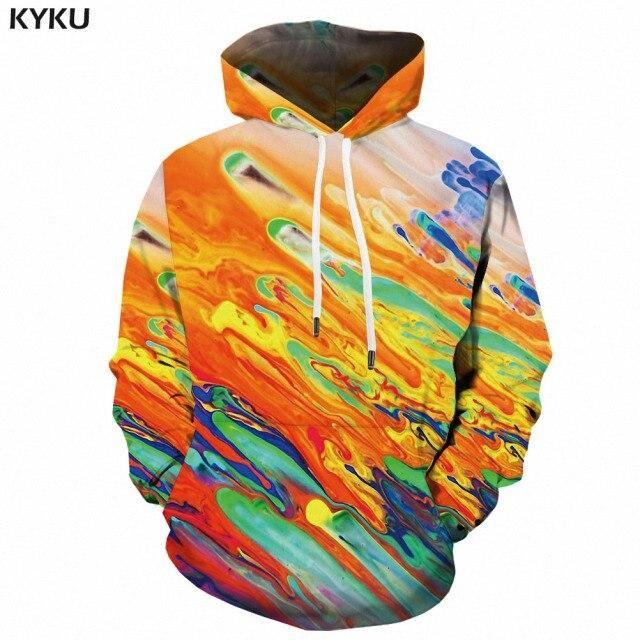 Photo of KYKU Brand Galaxy Hoodie Men Space Hooded Casual Abstract 3d Printed Psychedelic Hoody Anime Sweatshirt Printed Mens Clothing – WY2161 / XXXL