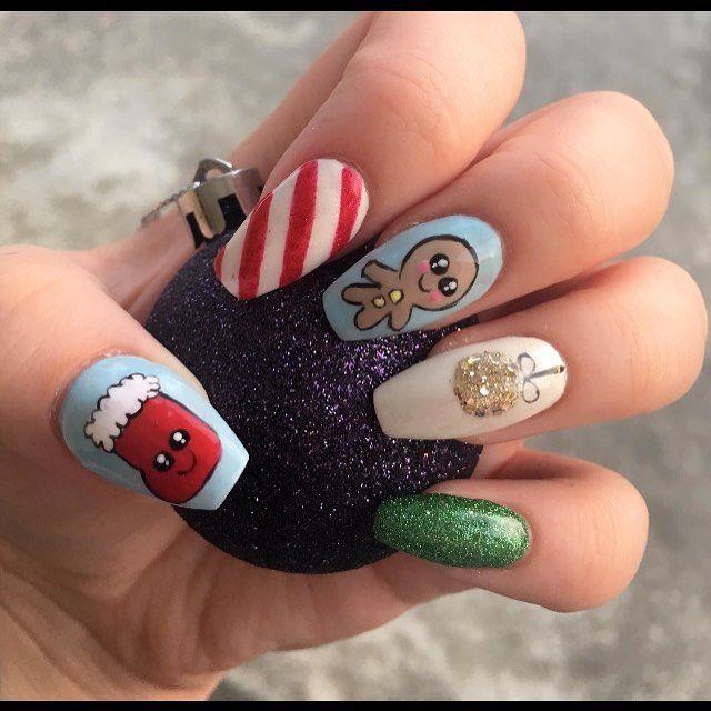 56 Christmas Nails Arts Designs 2018 Winter Nail Art Design 2017