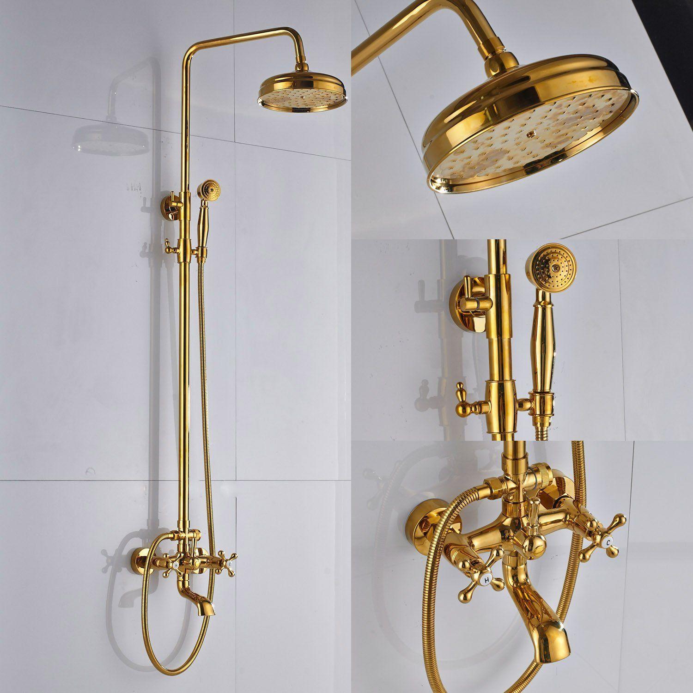 Rozin Bathroom Tub Shower Faucet Units 8-inch Rainfall Shower Head ...