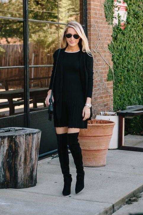 die besten 25 sweaterkleider ideen auf pinterest pullover ber kleid pullover kleid stiefel. Black Bedroom Furniture Sets. Home Design Ideas