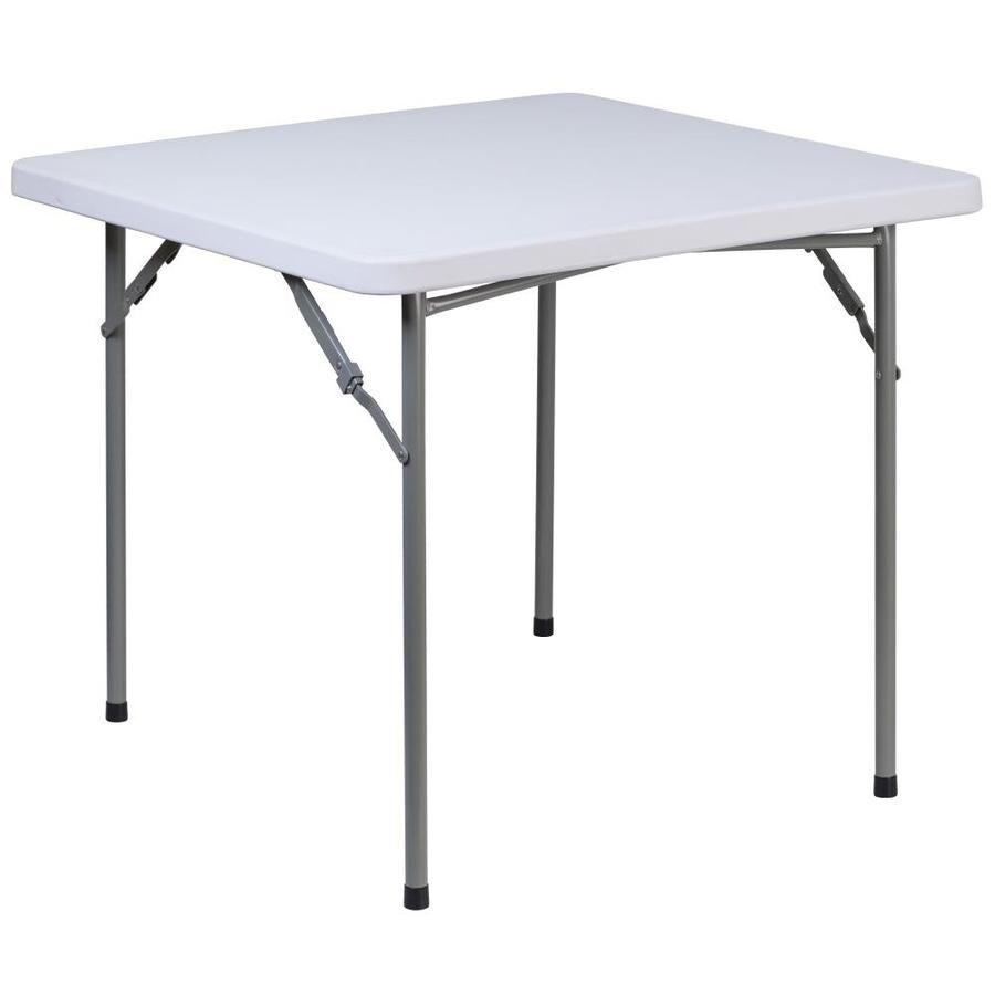 Flash Furniture 33 75 In X 33 75 In Square Plastic White Folding Table 889142084303 In 2020 Furniture Table Round Folding Table