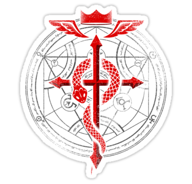 Fullmetal Alchemist Flamel Sticker By R Evolution Gfx Fullmetal Alchemist Alchemy Tattoo Alchemist