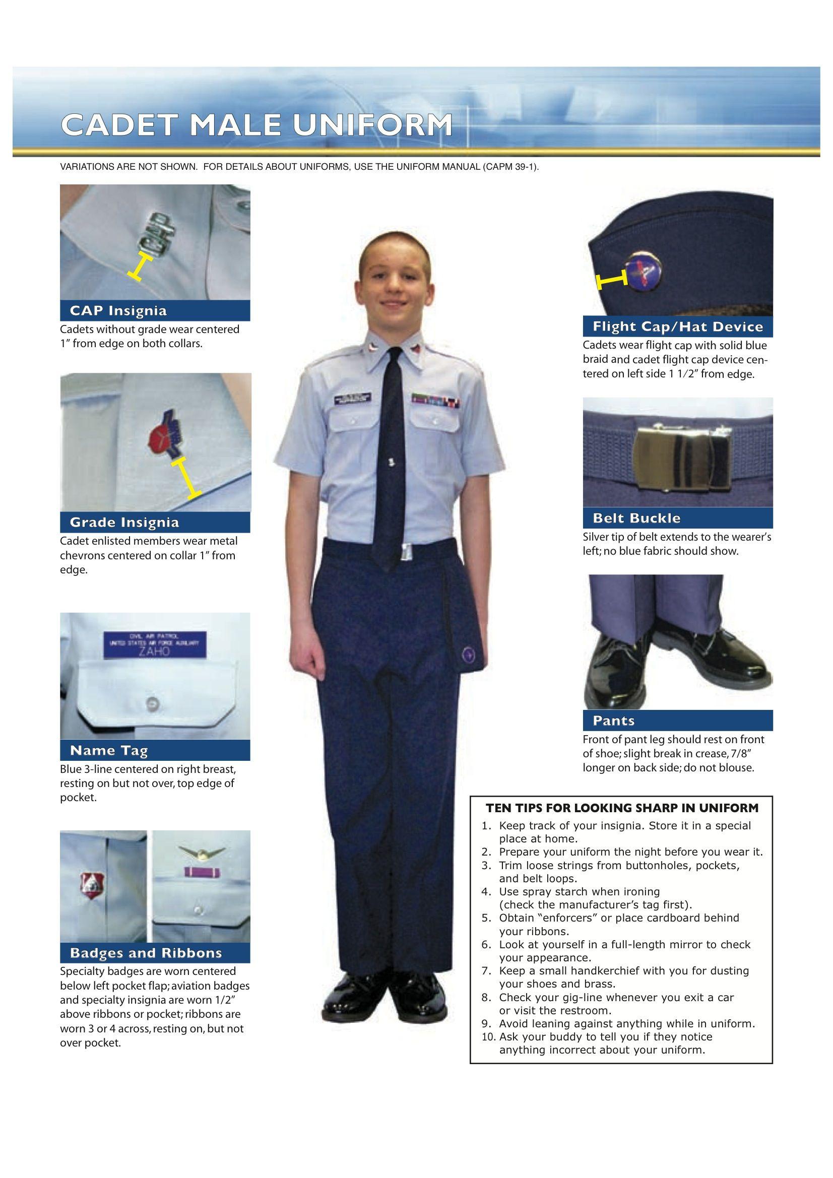 Cadet Uniform Guide Uniform, Cadet, Guide