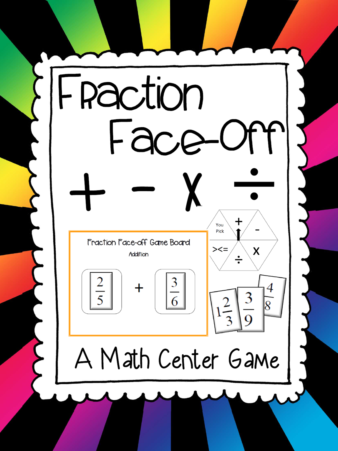 Fraction Face Off A Math Center Game To Review Adding