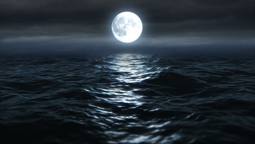 Full Moon Night Landscape With Stock Footage Video 100 Royalty Free 4406777 Ocean At Night Night Landscape Night Aesthetic