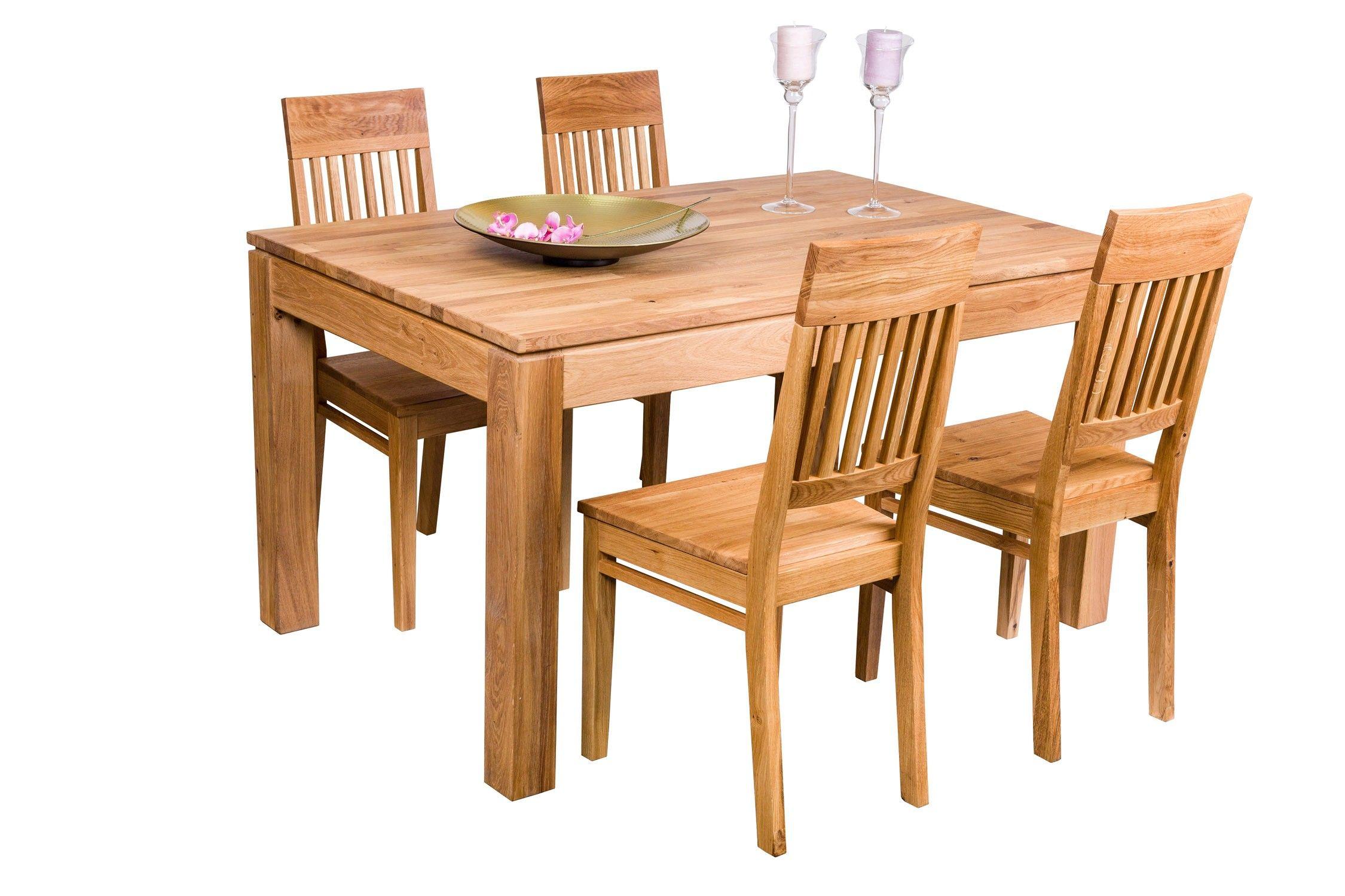 Eiche Esstisch Und Stühle Set Farm Esstisch Eiche Möbel
