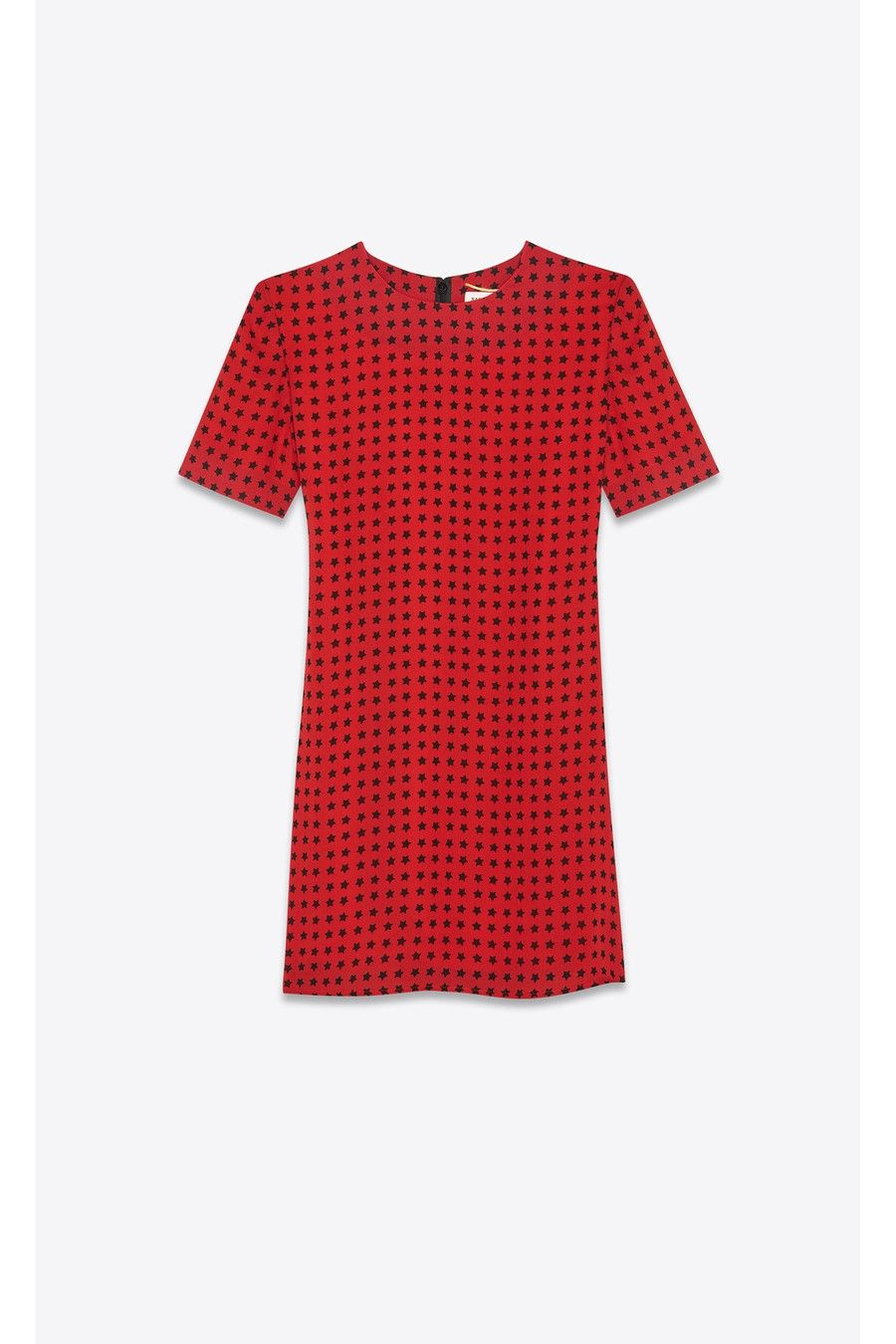 "051e9e2198 Viscose Crepe Dress With ""Star Scandal"" Print by Saint Laurent ..."