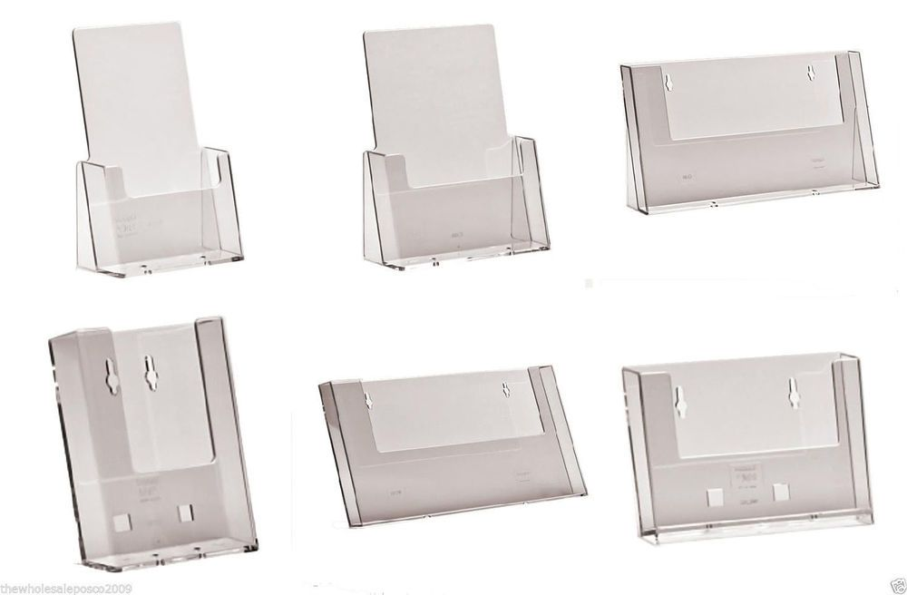 Leaflet business card holder display brochure flyer menu stands leaflet business card holder display brochure flyer menu stands dispensers in business office industrial office equipment supplies other office reheart Choice Image