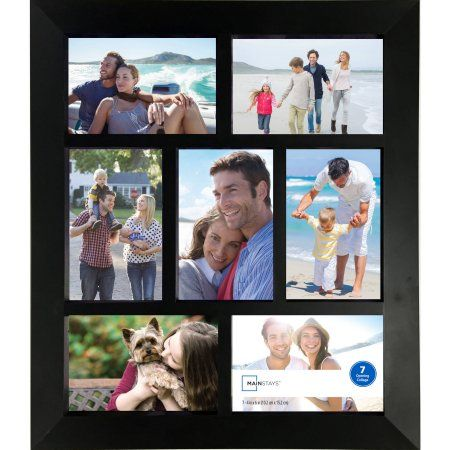 Mainstays 7-Opening 4x6 Wide Collage Frame, Black   Products