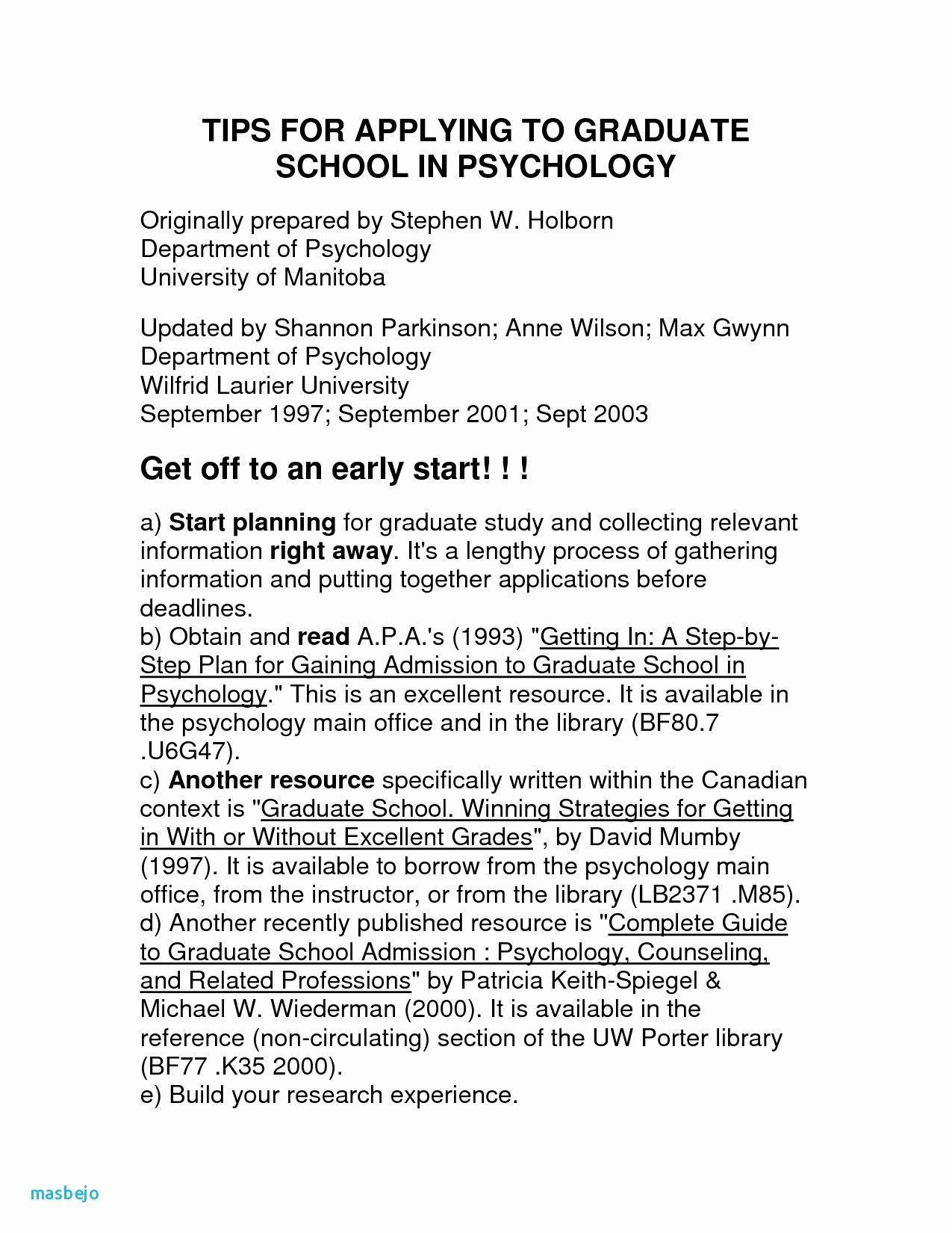 Psychology Degree Resume Luxury Nice Psychology Resume Template S Academic Resum Resume For Graduate School Graduate School Psychology Degree