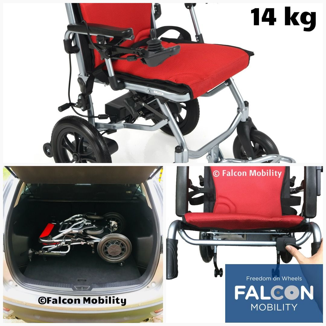 The 14kg UltraLite Electric Wheelchair has a Dual Control