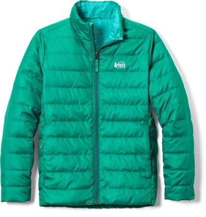The kids' version of our adult favorite  the kids' REI Co-op 650 down jacket gives them lightweight warmth that'll let them play outside without a care about shivers.