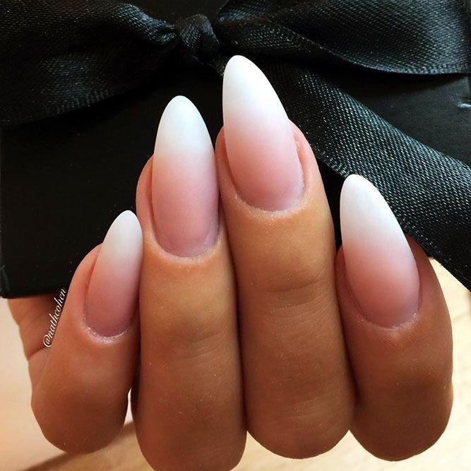 65 Gorgeous Almond Matte Nail Designs You'll Love #nailsshape