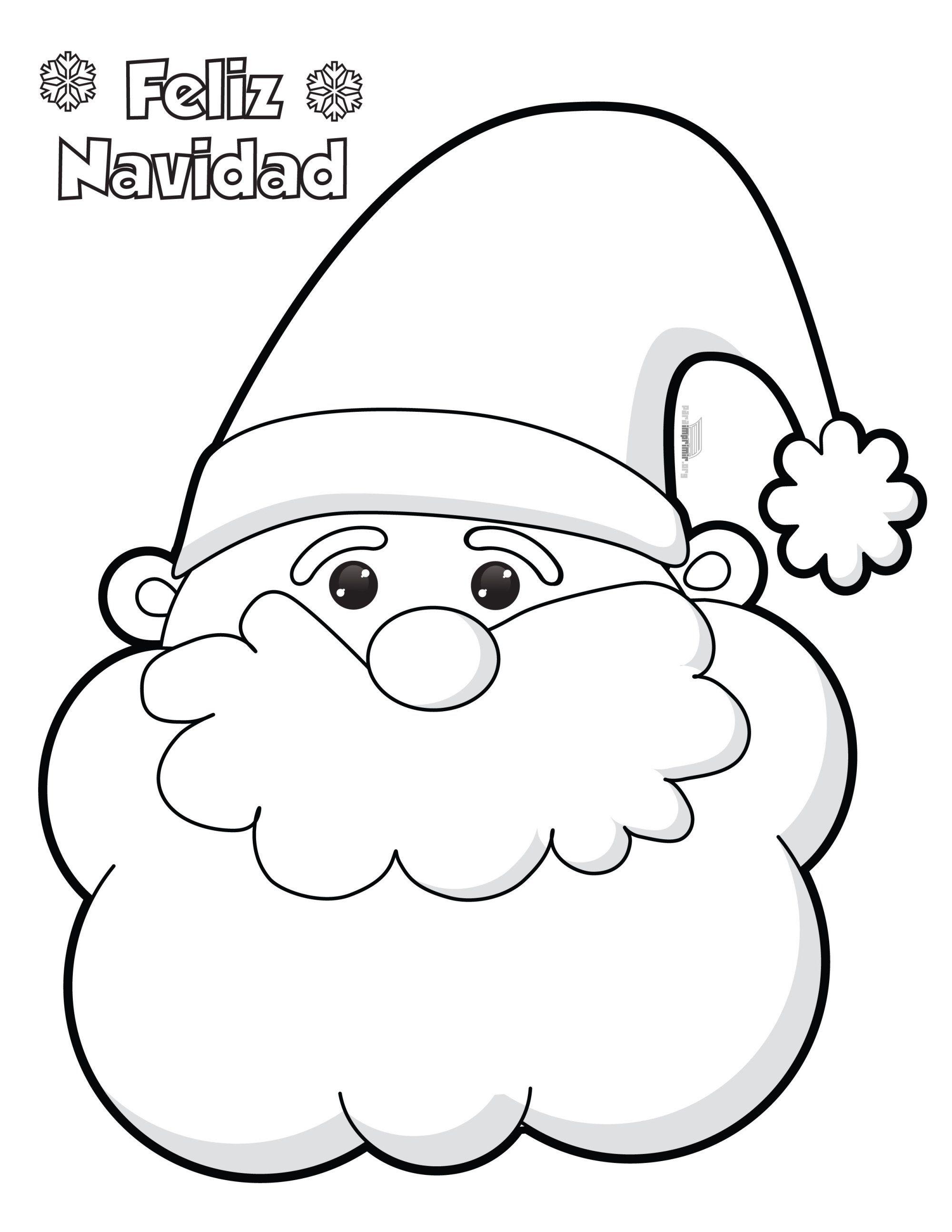 santa headed paper template