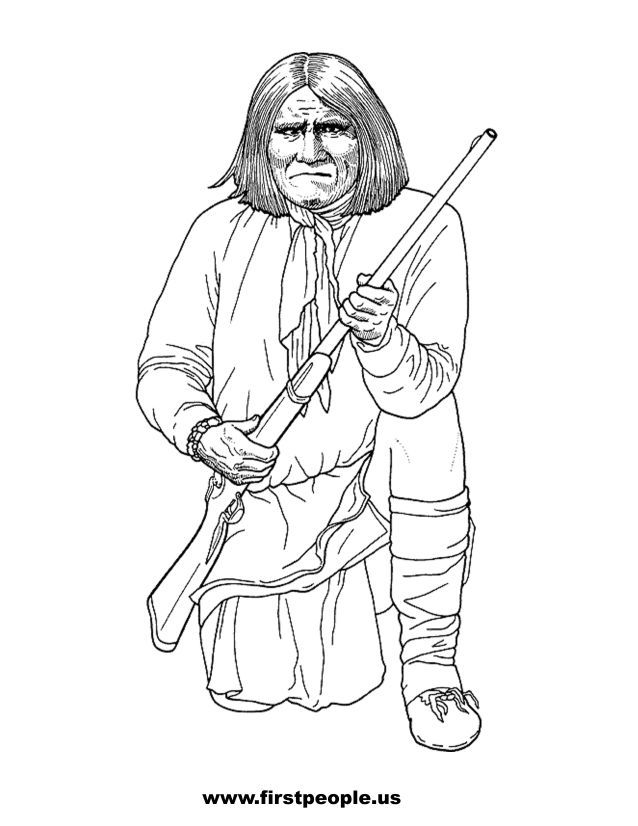 Geronimo - Clipart to color in. | Patterns | Pinterest