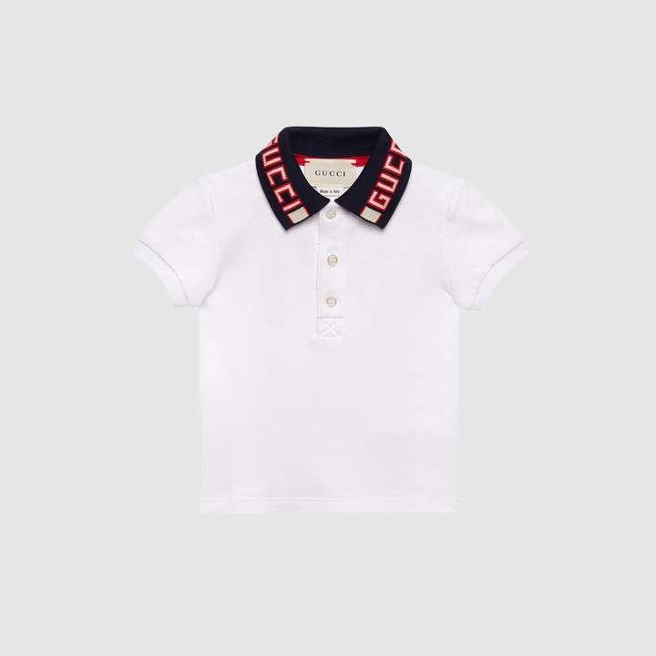 d91ff1da24a5 Gucci Baby cotton polo with stripe. Gucci Baby cotton polo with stripe Gucci  Baby