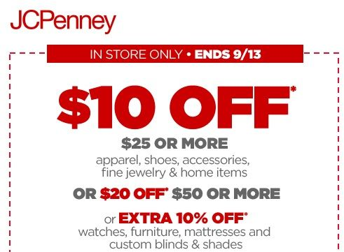 jcpenney coupons 10 off 25 black friday