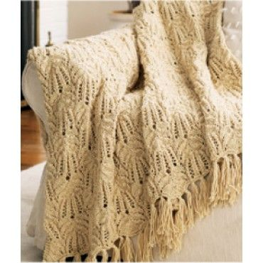 Mary Maxim - Free Lacy Afghan Knit Pattern - Patterns & Books | Knit