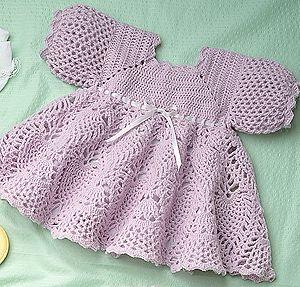 Sweet Sugarplum Dress to Crochet for Baby Pattern ePattern Download - Leisure Arts