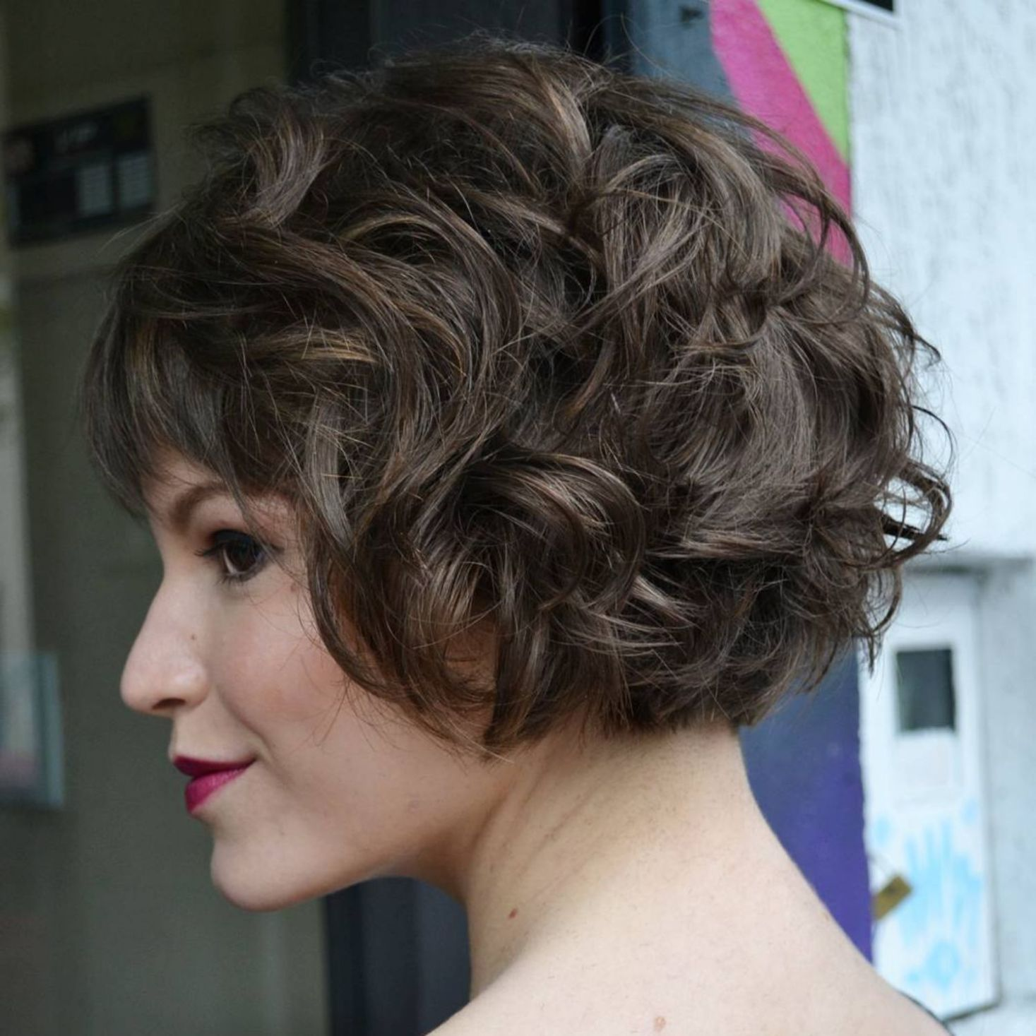 Different Versions of Curly Bob Hairstyle  Hair  Pinterest