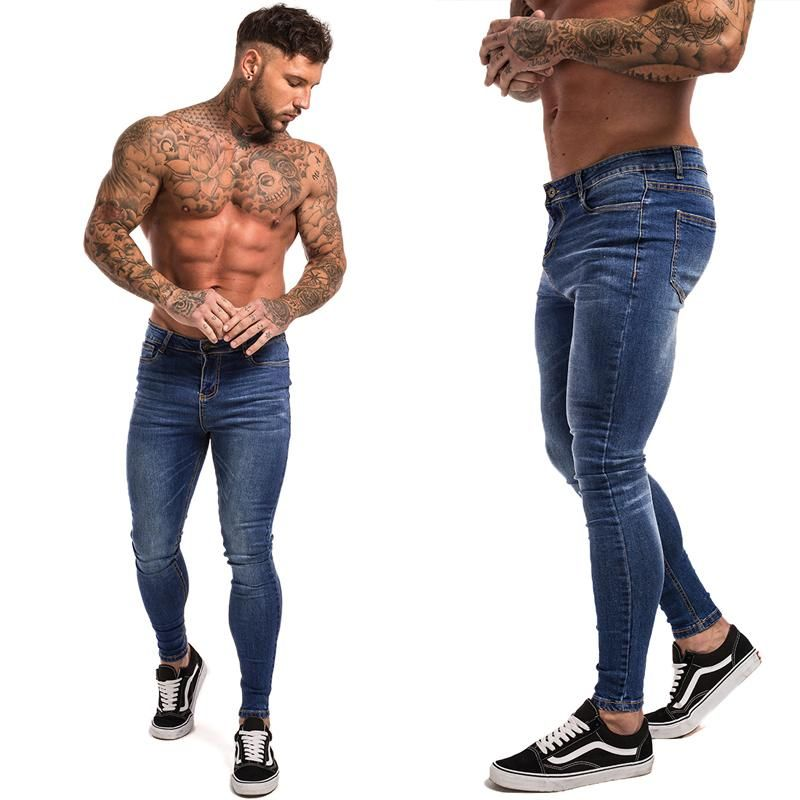 eeef7c516 Gingtto Blue Jeans Slim Fit Super Skinny Jeans For Men Street Wear Hio Hop  Ankle Tight Cut Closely To Body Big Size Stretch zm05 #a #me #fashionblog  ...