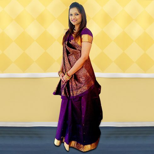 saree maker to buy delhi in pleat where