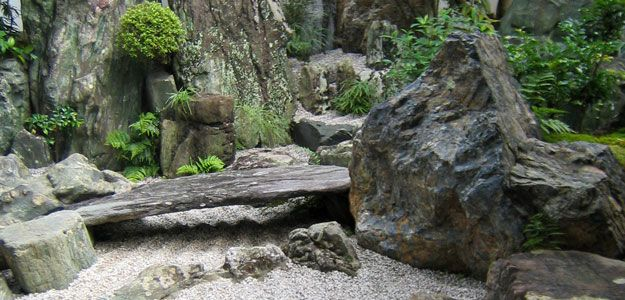zen garden japanese garden japanese rock garden dry landscape japan kyoto daisen in waterfall river mountains stone bridge zen pinterest - Japanese Garden Stone Bridge