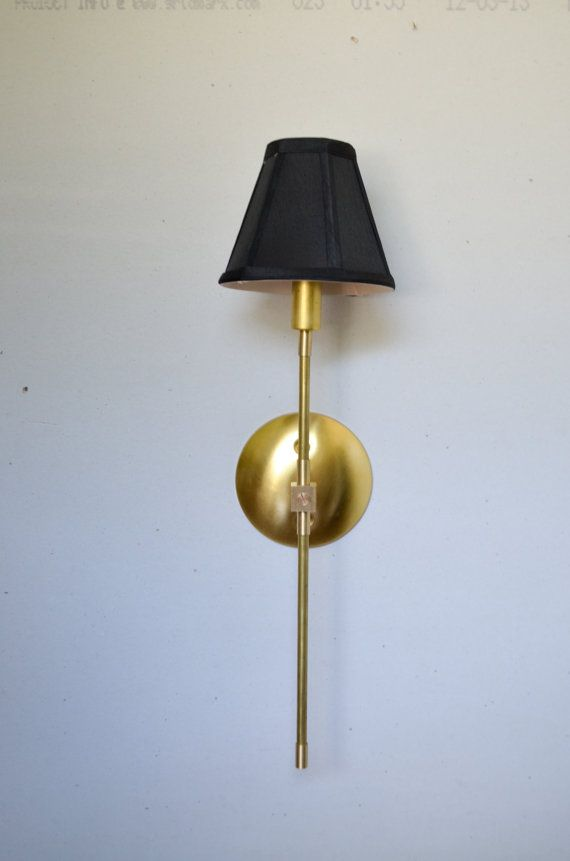 Vivianne gold brass black white shade by triple7recycled on etsy 85 00 · hallway lightingbedside