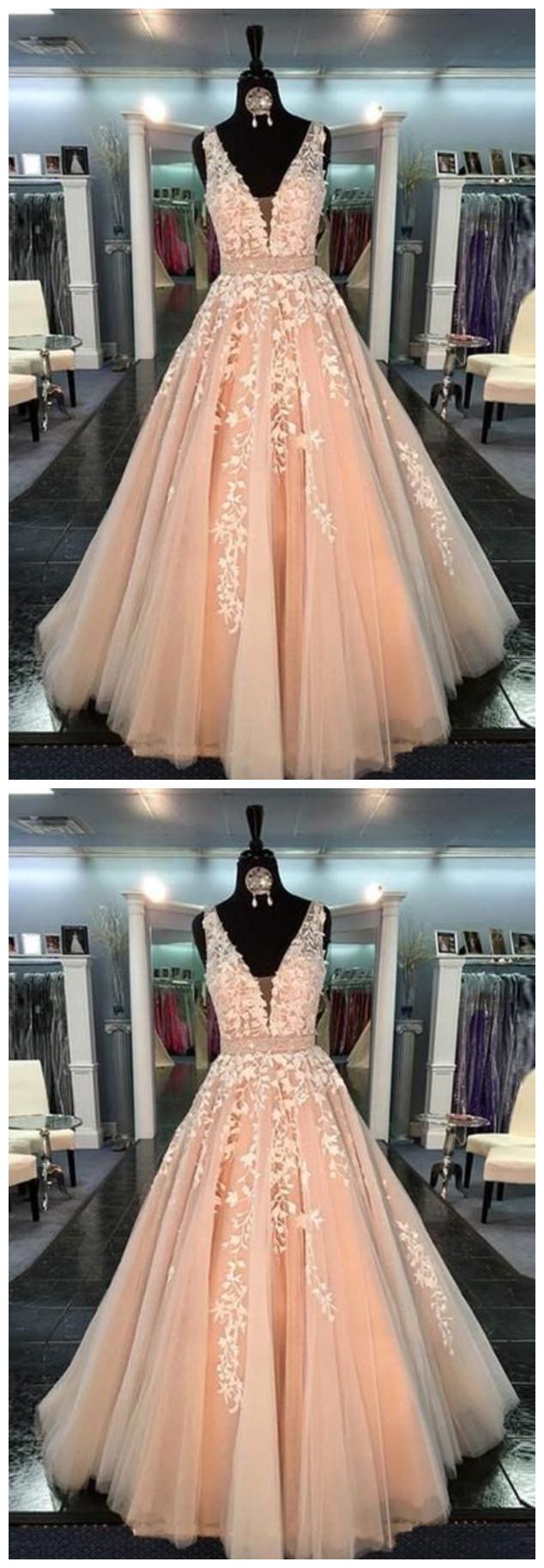 Charming Prom Dress,Applique Prom Dress,Illusion Prom Dress,Fashion ...