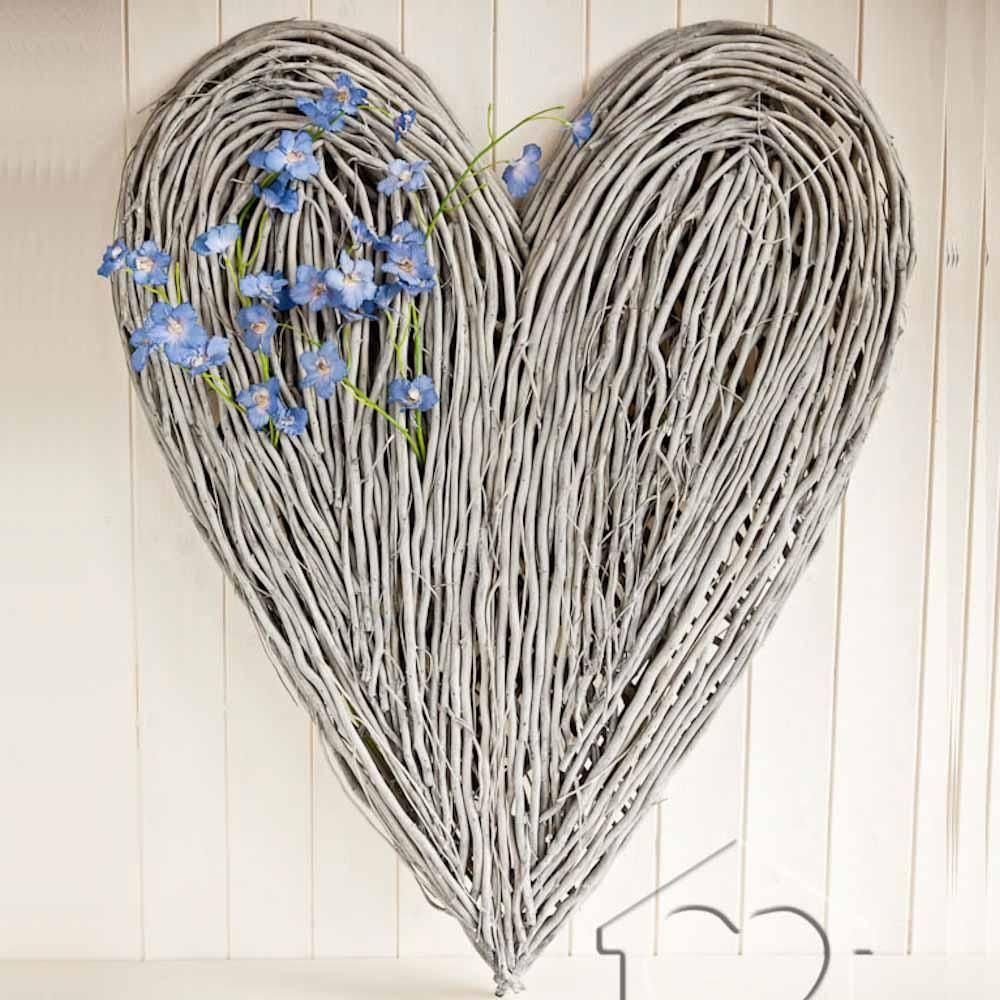 Listers Bedroom Furniture Extra Large Wicker Heart Alb4700 Driftwood Art From Listers