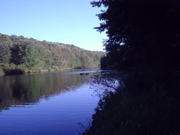 The Lehigh River, right around the pickerel hole. A pic I took back in 2008 when I was fishing.