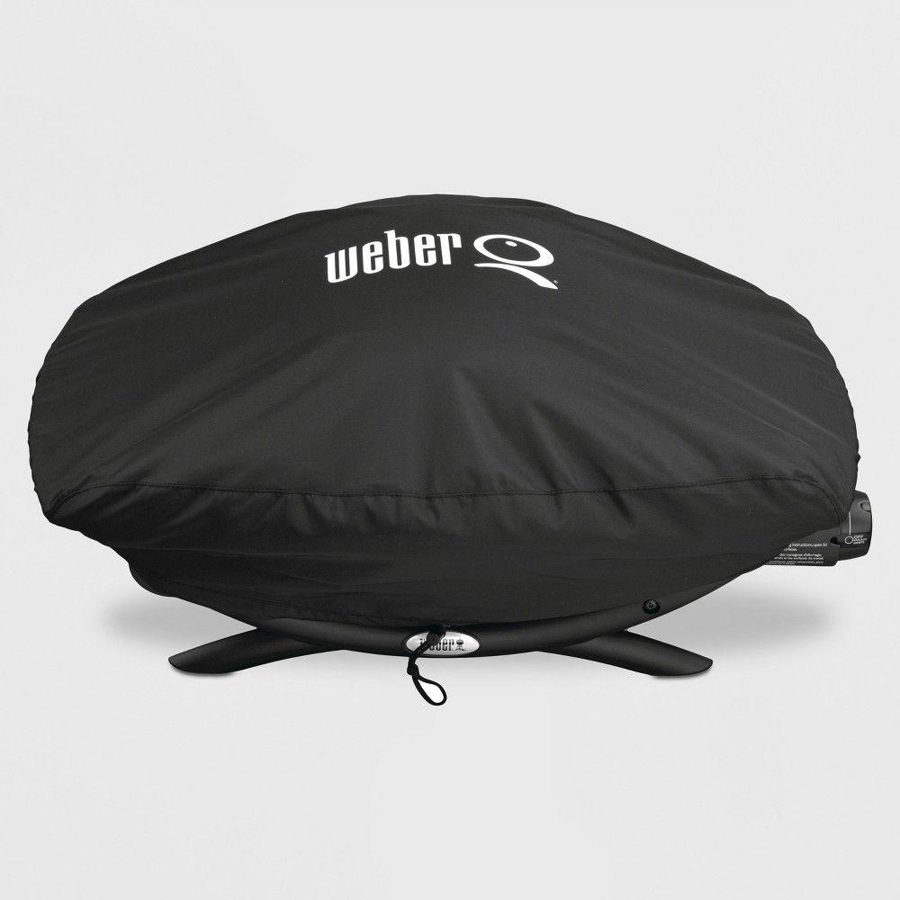 Weber Q 200 2000 Bonnet Cover Black Gas Grill Covers Weber Grill Cover Weber Grill