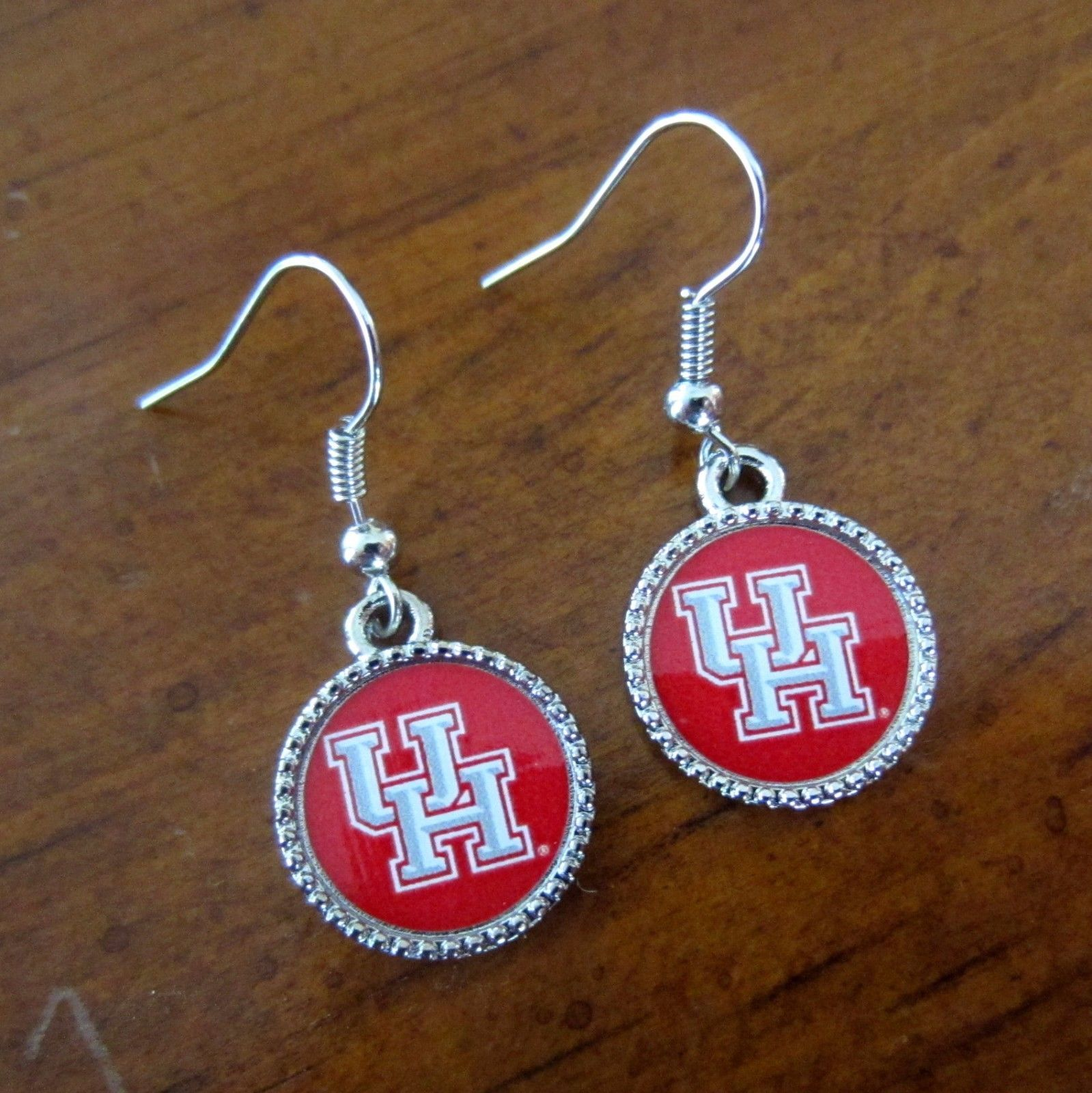 new official University of Houston Cougars UH LOGO SILVER CHARM ...