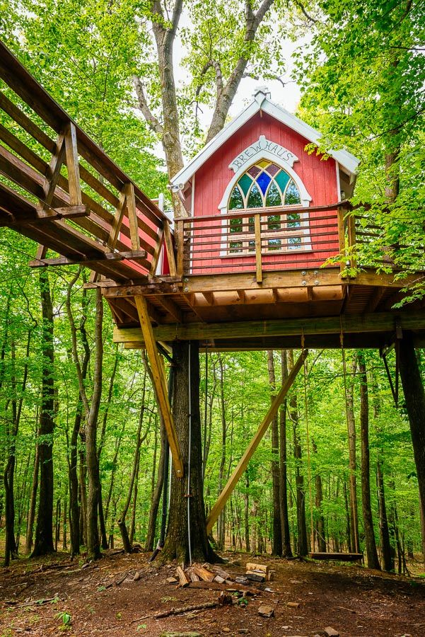 A Treehouse At Mohican Cabins Near Loudonville Provides An Intriguing And  Altogether Different Overnight Retreat.