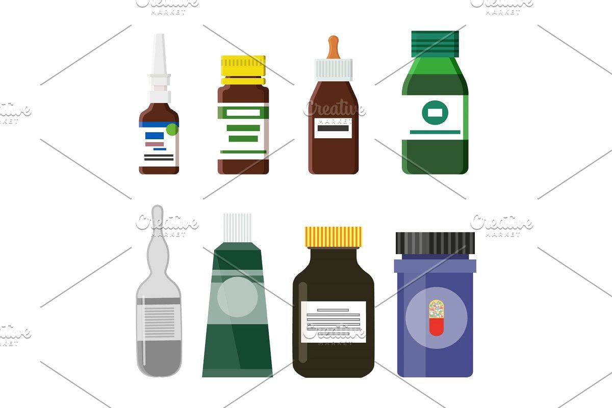 Pharmacy Production Bottles Set