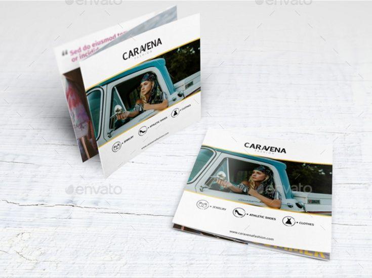 square tri fold fashion brochure template