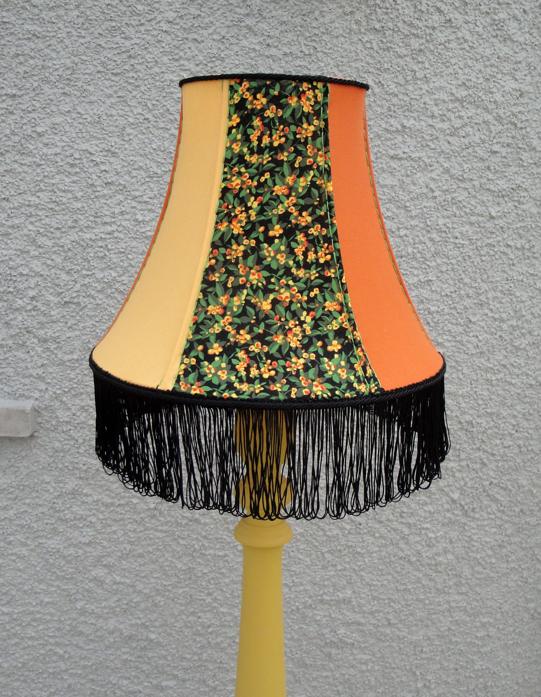Vibrant Handmade Round Bell Lampshade In Orange And Yellow Home Decor By Katiemadelampshades On E Antique Lamp Shades Creative Lamp Shades Hanging Lamp Shade