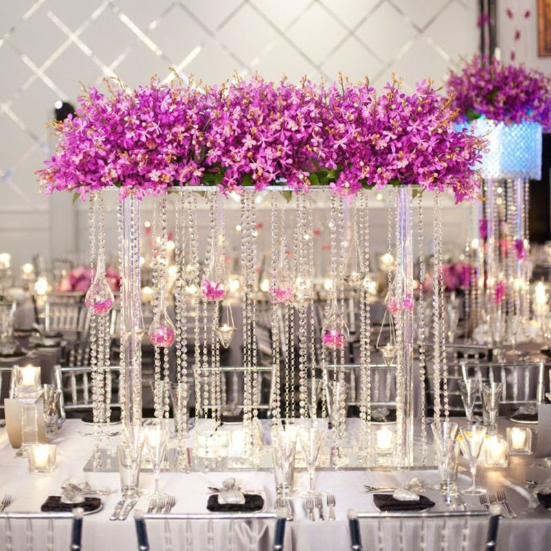 20 meters clear glass crystal beaded garlands chandelier crystal 20 meters clear glass crystal beaded garlands chandelier crystal strands for wedding centerpiece decorations and party aloadofball Images