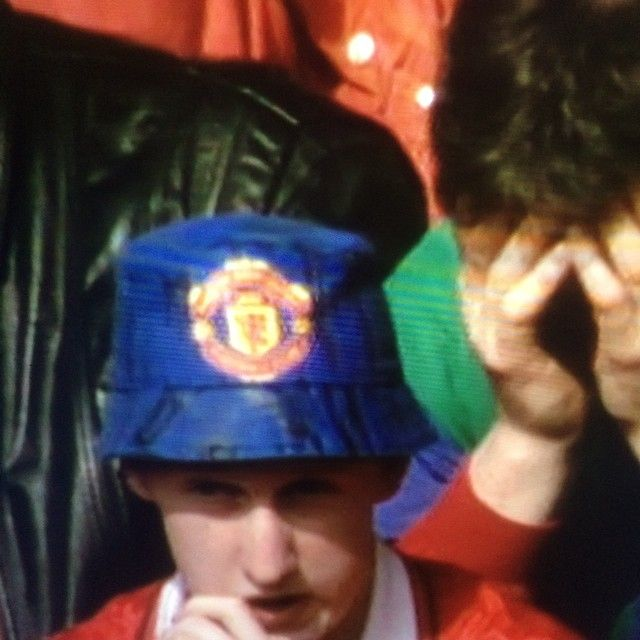 642e98f8 That Manchester United bucket hat on the Premiership Years  #manchesterunited #united #mufc #footballshirtcollective