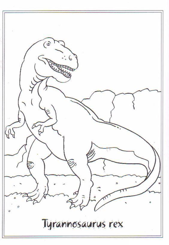 coloring page dinosaurs 2  tyrannosaurus rex  티라노사우루스