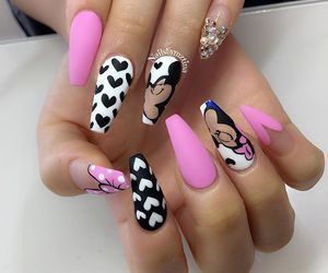 mickey mouse  minnie mouse nails pink nails disney nails