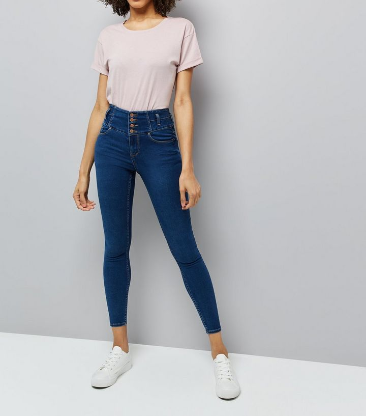 L2017 http://www.newlook.com/row/womens/clothing/jeans/blue-high-waisted-skinny-jeans/p/504447040?comp=Browse