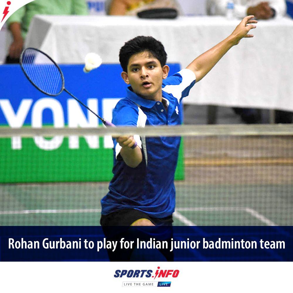 Rohan Gurbani Selected In The Indian Junior Badminton Team In 2020 Badminton Team Badminton Junior