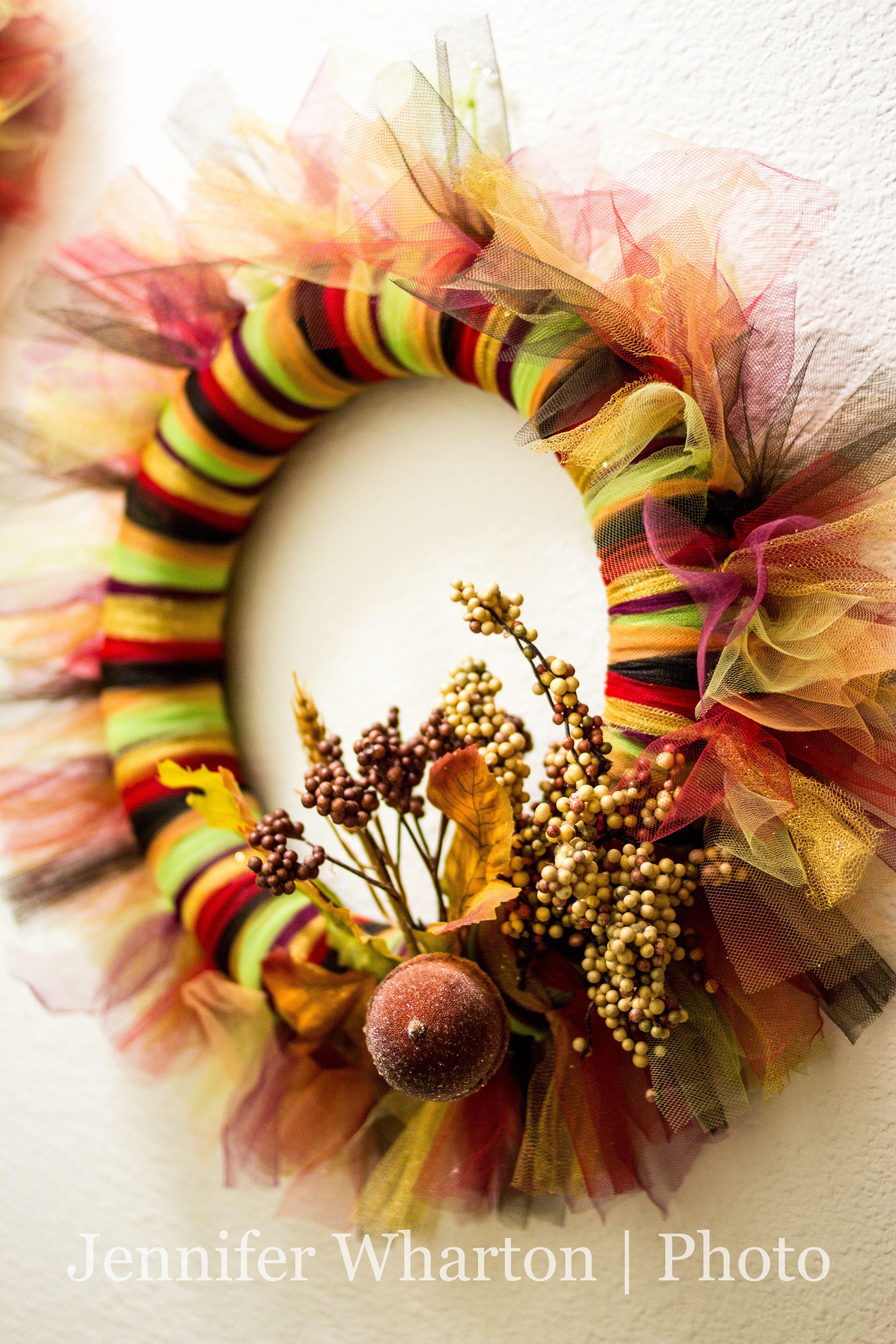 Fall tutu wreath