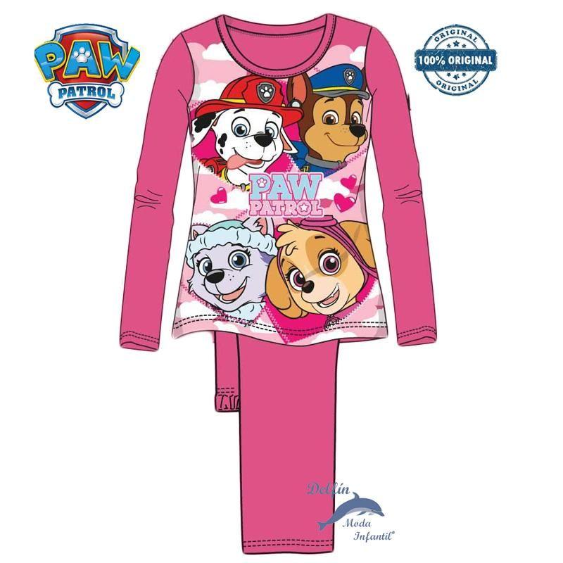 Pijama Largo Para Nina De Patrulla Canina Algodon Color Fucsia Patrulla Canina Ninos Pijama