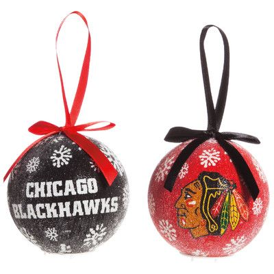 Team Sports America NHL LED Boxed Ornament Set NHL Team: Chicago Blackhawks