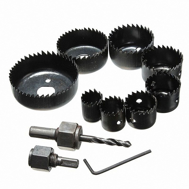 11pc Hole Saw Bit Kit Holesaw Wood Sheet Metal 3 4 To 2 1 2 Storage Case Bor Logam Kayu